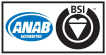ANAB and BSI Accredited Logo